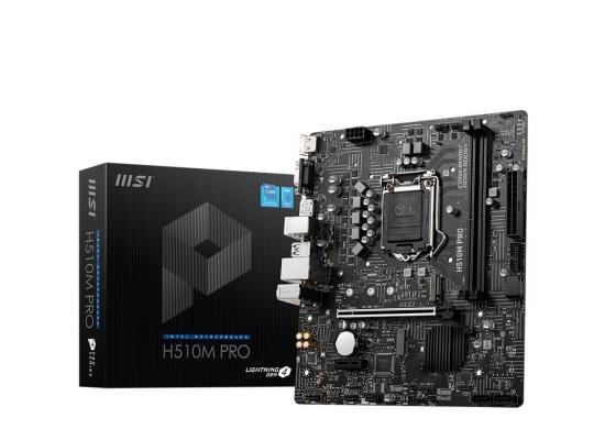 MSI H510M-PRO LGA 1200 Intel H510 11th & 10th Intel CPUs SATA 6Gb/s M.2 mATX Intel Motherboard