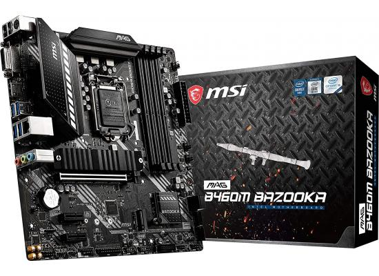 MSI MAG B460M BAZOOKA LGA 1200 Intel B460 SATA 6Gb/s M.2 Micro ATX Intel Motherboard