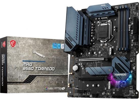 MSI MAG B560 TORPEDO LGA 1200 Intel B560 11th Intel CPUs Pcie Gen 4.0, M.2, SATA 6Gb/s ATX Intel Motherboard