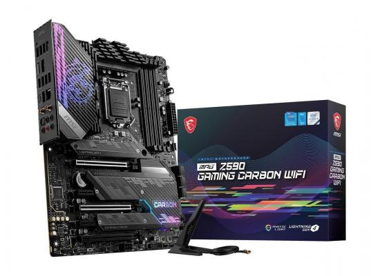 MSI MPG Z590 GAMING CARBON WIFI LGA 1200 Intel Z590 16+1+1 Power Design with Digital PWM HIGH-SPEED TRANSMISSION SATA 6Gb/s ATX Intel Motherboard