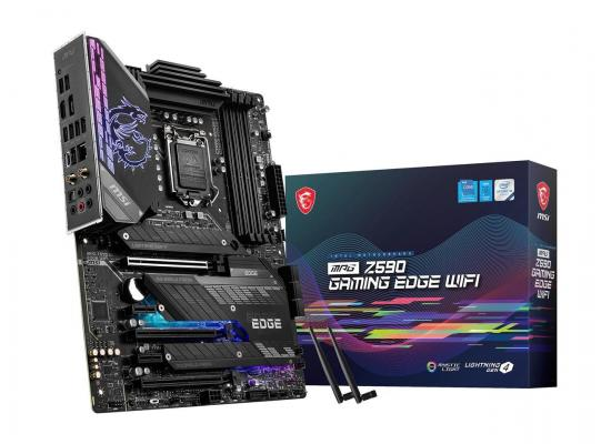 MSI Z590 GAMING EDGE WIFI LGA 1200 Intel Z590 11th & 10th Intel CPUs Pcie Gen 4.0 , SATA 6Gb/s ATX Intel Motherboard