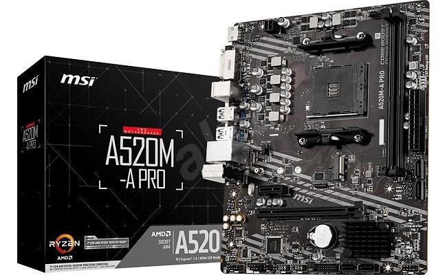 MSI AMD RYZEN A520M-A PRO Motherboard