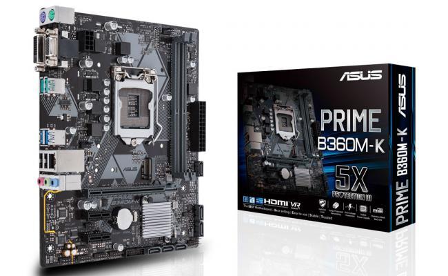 Asus Prime B360M-K //LGA1151 B360 Sata6.0 MB