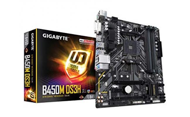 GIGABYTE B450M DS3H M.2 mATX Motherboard