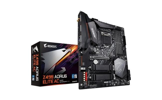 GIGABYTE Z490 AORUS ELITE Intel Z490 LGA 1200 with Direct 12+1 Phases Digital VRM Motherboard