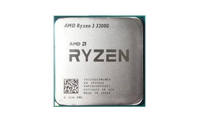 AMD Ryzen 3 3200G (4 cores, 4 Threads, 6MB Cache Up To 4.0 GHz) Desktop Processor with Radeon RX Vega 8 Graphics OEM (Tray) , Comes With Fan