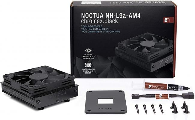 Noctua NH-L9a-AM4 chromax.Black, Low-Profile CPU Cooler for AMD AM4 (Black)