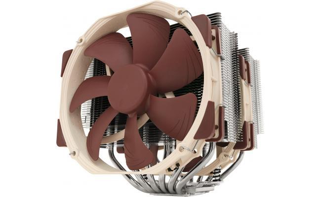 Noctua NH-D15 Premium CPU Cooler with 2X NF-A15 PWM 140mm Fans (Brown)