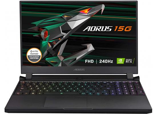 "GIGABYTE AORUS 15G KC - 15.6"" FHD IPS Anti-Glare 240Hz, Intel Core i7-10870H, NVIDIA GeForce RTX 3060 6GB GDDR6, 16GB RAM, 512GB NVME PCIE SSD, Win10 Home - Gaming Laptop"