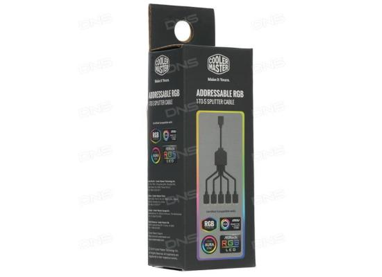 COOLER MASTER ADDRESSABLE RGB 1-TO-5 SPLITTER CABLE 58CM