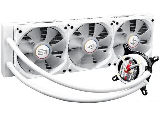 Asus ROG Strix LC 360 RGB Gundam Edition All-In-One Liquid CPU Water Cooler With ARGB & Aura Sync Fans - White