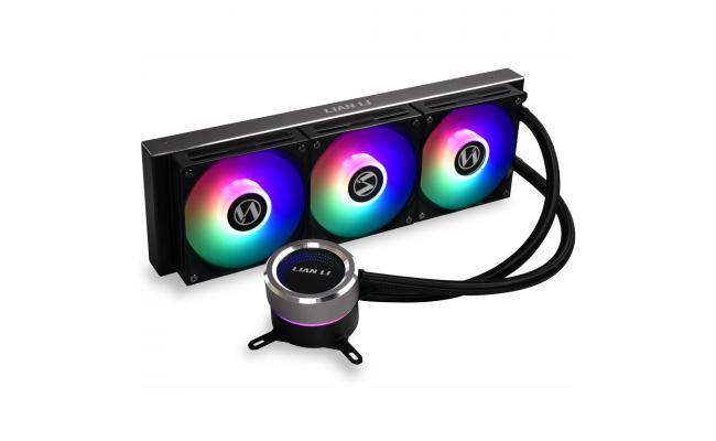LIAN LI GALAHAD 360mm ARGB CPU Liquid Cooler - Black