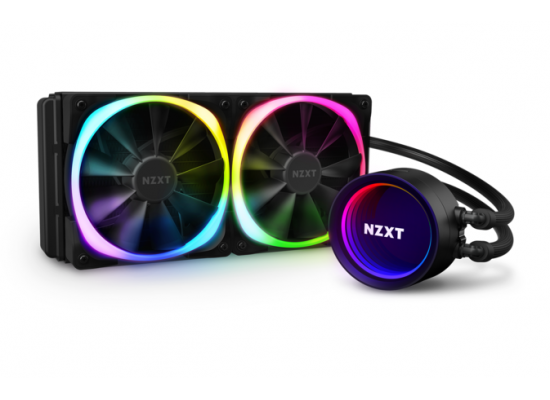 NZXT Kraken X53 RGB 240mm AIO CPU Liquid Cooler, RGB Connector, Aer RGB V2 2X120mm Radiator Fans