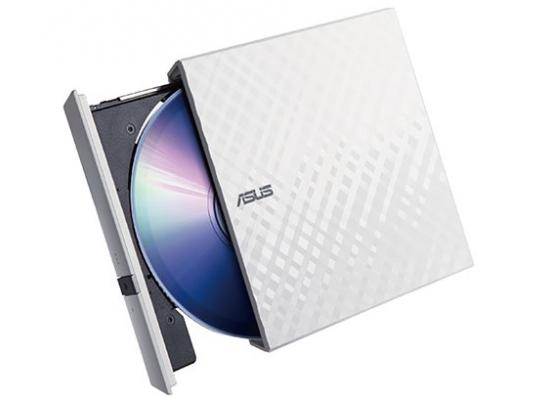 ASUS LITE Portable USB 2.0 Slim 8X DVD/ Burner +/- Rewriter External Drive, Compatible with both Mac & Windows, White