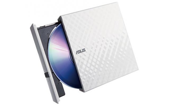 ASUS LITE Portable USB 2.0 Slim 8X DVD/ Burner +/- Rewriter External Drive, Compatible with both Mac & Windows, White