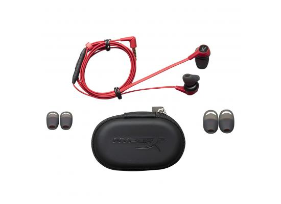 HyperX Cloud Earbuds Gaming Headphones with Mic (Red)