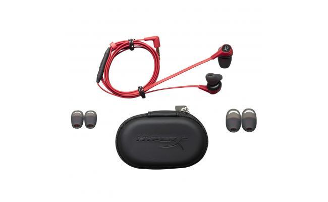 HyperX Cloud Earbuds Gaming Headphones with Mic (Red)