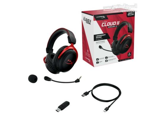 HyperX Cloud II Wireless - Gaming Headset for PC, PS4,Battery Up to 30 Hours, 7.1 Surround Sound, Memory Foam, Detachable Noise Cancelling Microphone with Mic Monitoring