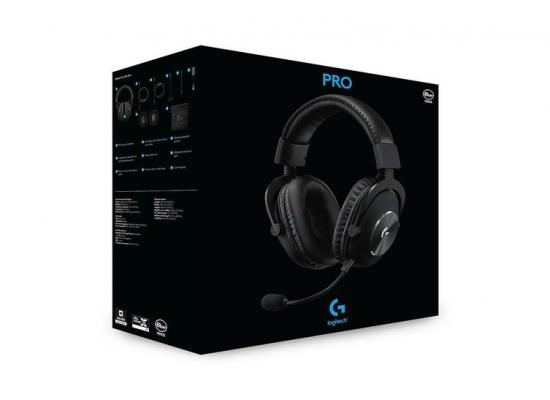 Logitech Pro X Gaming Wired Headset DTS:X 2.0 , 7.1 Surround Sound with Advance Sound Card & Blue Voice Technology - Black
