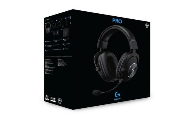 Logitech G Pro X Gaming Headset DTS:X 2.0 , 7.1 Surround Sound with Advance Sound Card & Blue Voice Technology - Black