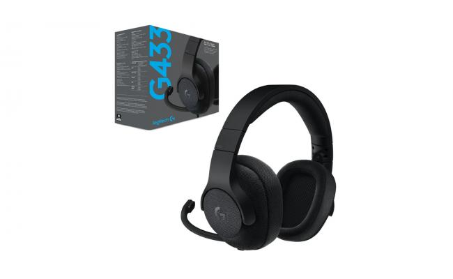 Logitech G433 7.1 Wired with DTS Headphone: X 7.1 Surround for PC, PS4,Xbox – Triple Black Gaming Headset