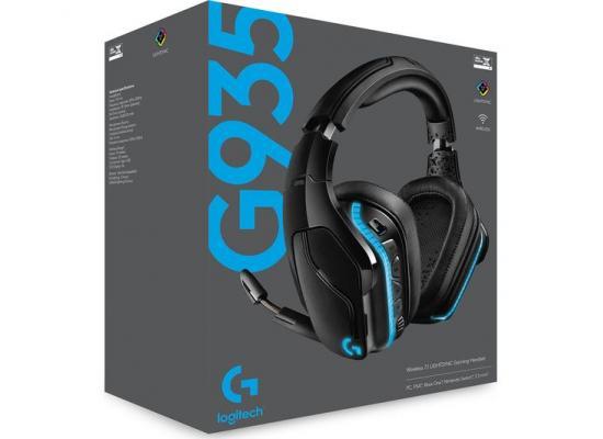 Logitech G935 Wireless DTS:X 7.1 Surround Sound LIGHTSYNC RGB PC ,8 hours Battery Life - Black, blue Gaming Headset