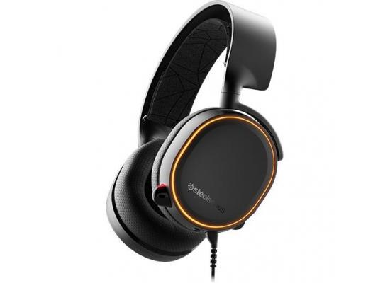 SteelSeries Arctis 5 RGB with DTS Headphone: X v2.0 , 7.1 Surround Sound For Ps4, Ps5 ,& PC - Black Gaming Headset