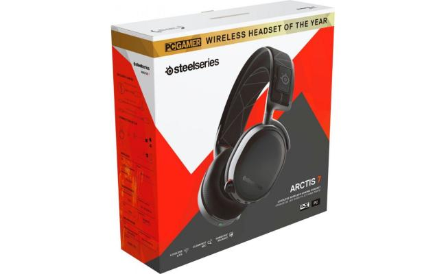 SteelSeries Arctis 7 - Lossless 2.4 Ghz Wireless Gaming Headset with DTS Headphone: X v2.0 Surround - for PC and PlayStation 4 - Black