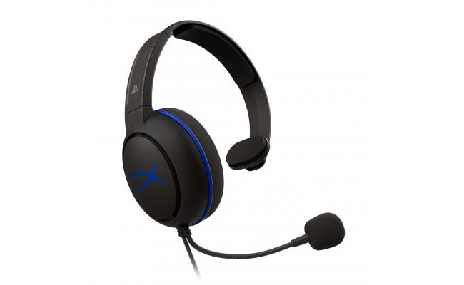 HyperX Cloud Chat Headset – Official Playstation Licensed for PS4, Noise-Cancellation Microphone in-Line Audio Controls, Lightweight, Reversible
