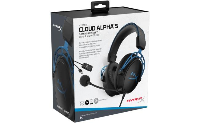 HyperX Cloud Alpha S 7.1 Virtual Surround  - Gaming Headset