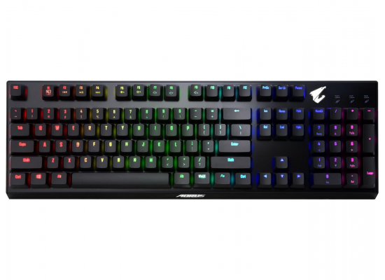 GIGABYTE AORUS K9 Red Switch Mechanical Gaming Keyboard ,Splash proof ,Full RGB backlighting ,Swappable Switches ,Floating Key Design