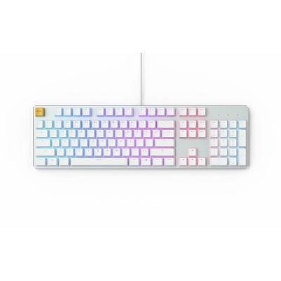Glorious GMMK Full Size, Modular Mechanical Gaming Keyboard - Full Size 104/105 Keys - RGB LED Backlit, Hot Swap Switches (White Ice Edition/Brown Switches)