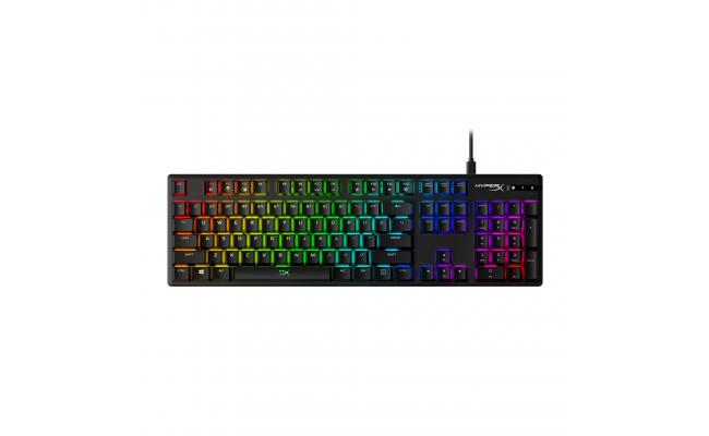 HyperX Alloy Origins Mechanical Gaming Keyboard, Macro Customization, Compact Form Factor, RGB LED Backlit - Linear HyperX Red Switch