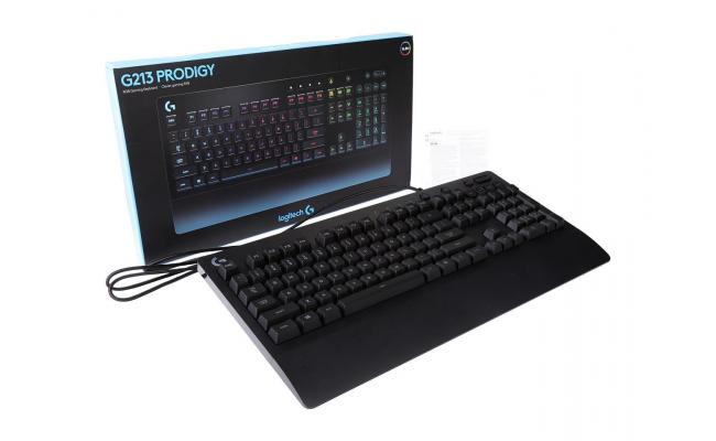 Logitech G213 Prodigy RGB Mech-Dome (Hybrid) Gaming Keyboard , Dedicated Media Controls, Spill-Resistant and Durable Design