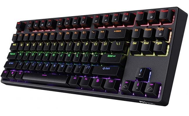 Royal Kludge 80% RK G87-87keys Wireless Bluetooth\Wired Type C Dual Mode RGB Mechanical Gaming Keyboard-Blue Switch-Black