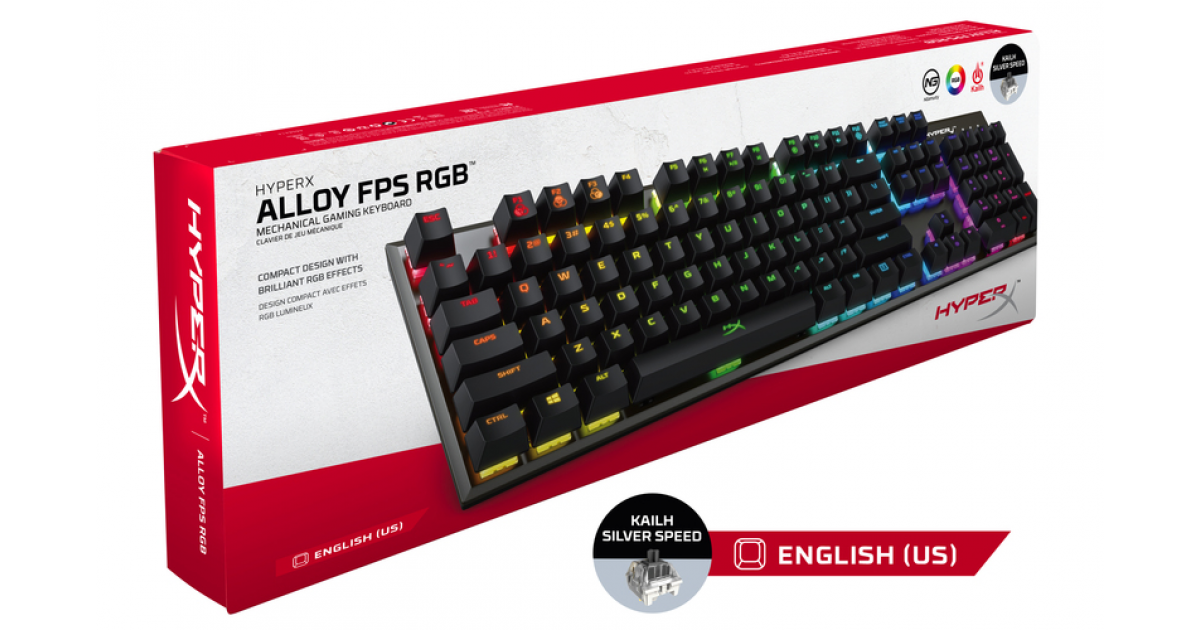 Hyperx Alloy Fps Rgb Kailh Silver Switch Mechanical