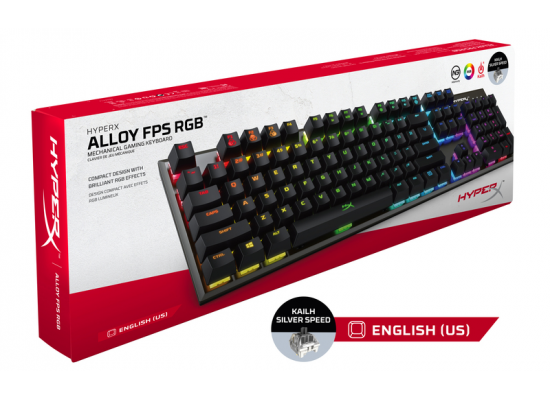 HyperX Alloy FPS RGB Kailh Silver Switch - Mechanical Gaming Keyboard
