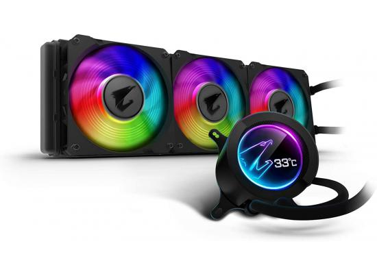 AORUS LIQUID COOLER 360, All-in-one Liquid Cooler with Circular LCD Display, RGB Fusion 2.0