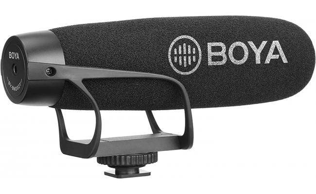 BOYA BY-BM2021 Wired On-Camera Super-Cardioid Shotgun Microphone for PC, Laptops and Smartphone