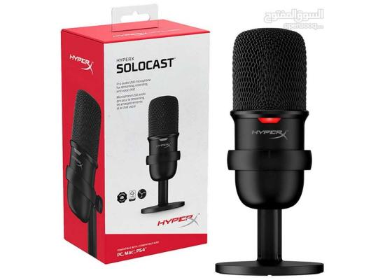 HyperX SoloCast USB Microphone,PC, PS4, PS5 and Mac Cardioid Polar Pattern, Great for Gaming, Streaming