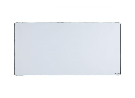 Glorious XXL Extended Gaming White Smooth Cloth & Anti-Slip Rubber Base Mouse pad, Stitched Edges | 46 x 91 cm