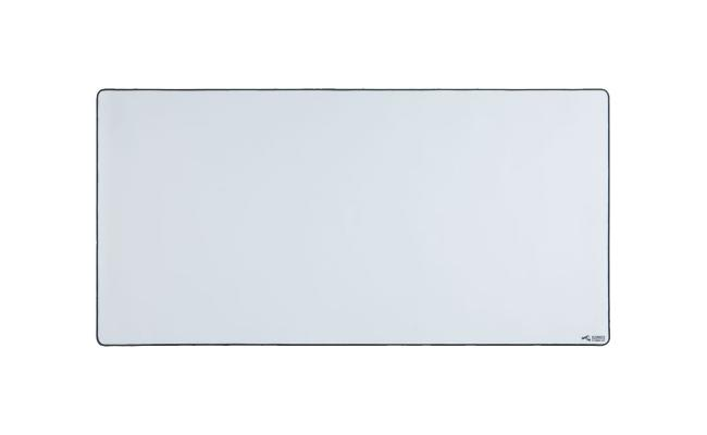 Glorious 3XL Extended Gaming White Smooth Cloth & Anti-Slip Rubber Base Mouse pad, Stitched Edges | 61x122 cm