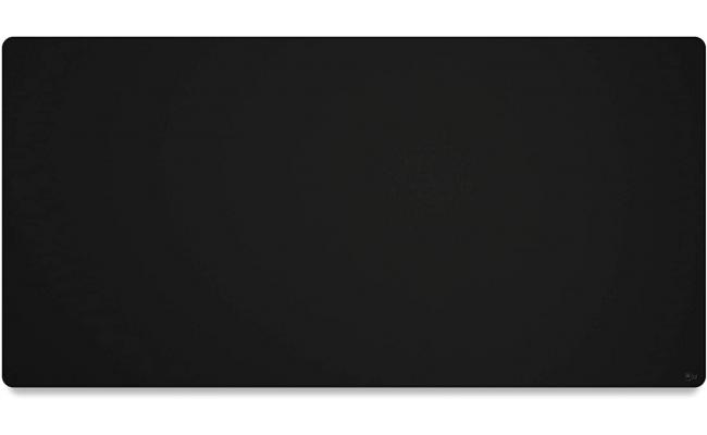 Glorious 3XL Extended Gaming Black (Stealth) Smooth Cloth & Anti-Slip Rubber Base Mouse pad, Stitched Edges | 61x122 cm