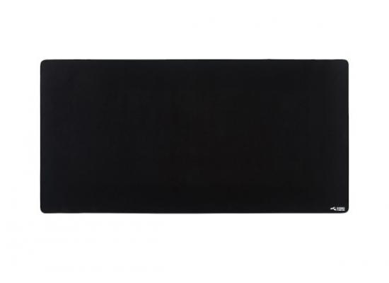 Glorious 3XL Extended Gaming Black Smooth Cloth & Anti-Slip Rubber Base Mouse pad, Stitched Edges | 61x122 cm