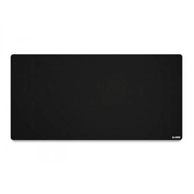 Glorious XXL Extended Gaming Black Smooth Cloth & Anti-Slip Rubber Base Mouse pad, Stitched Edges | 46 x 91 cm