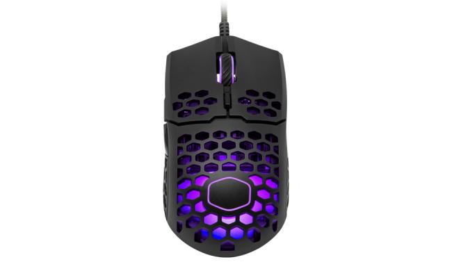 Cooler Master MM711 Matte Black RGB 60G  with Lightweight 16,000 DPI Gaming Mouse