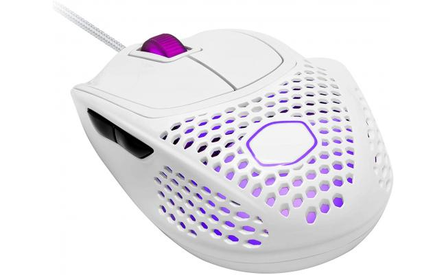 Cooler Master MM720 Matte White RGB with Lightweight 49g 16,000 DPI IP58 Gaming Mouse