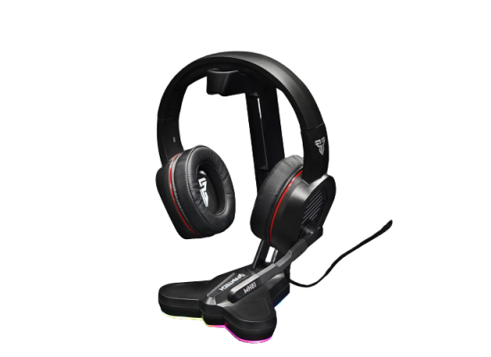 Fantech AC3001S Tower RGB Headset Stand, Headphone Holder , Black