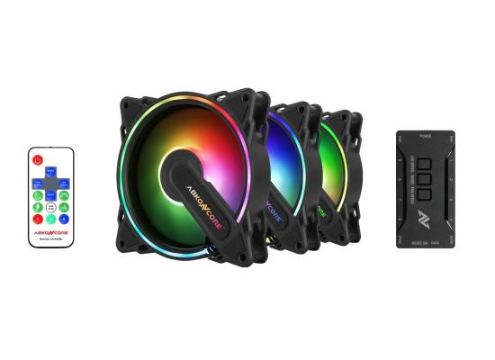 ABKONCORE HR120 SPECTRUM SYNC 3IN1 - FANS WITH CONTROLLER