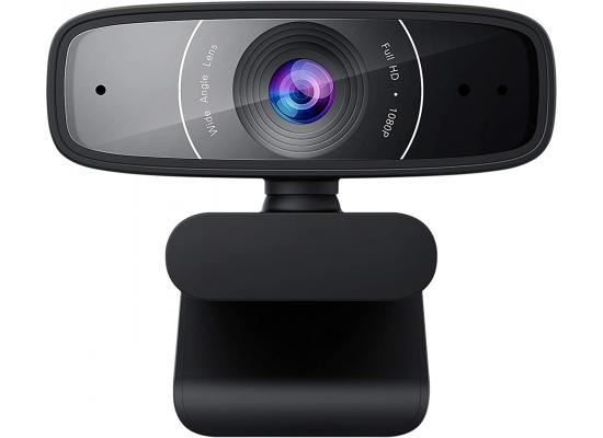 ASUS Webcam C3 1080p HD USB Camera - Beamforming Microphone, Tilt-Adjustable, 360 Degree Rotation, Wide Field of View, Compatible with Skype, Microsoft Teams and Zoom